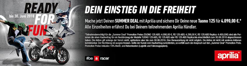 Summer-Deal! APRILIA Tuono 125 und RS 125